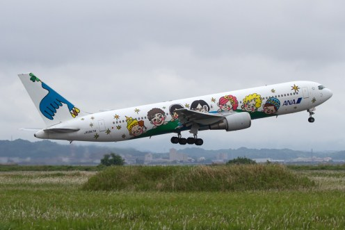 © Michael Lovering • Boeing 767 operated by ANA in 60th Anniversary markings • JASDF Miho Air Festival 2014