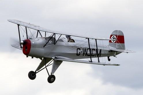 © Adam Duffield • Bucker Jungmann G-WJCM • Old Buckenham Airshow 2014