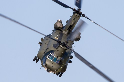 © Adam Duffield • Royal Air Force Chinook HC2 ZA674 - Waddington International Airshow 2013