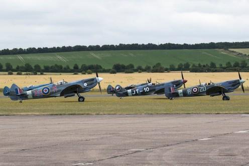 © Adam Duffield • Spitfires awaiting takeoff • Flying Legends 2015