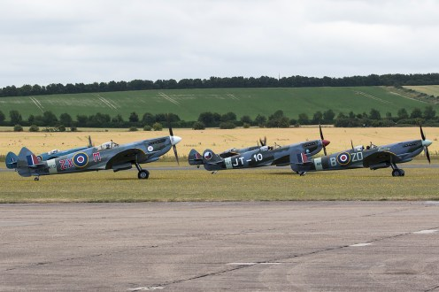 © Adam Duffield • Spitfires awaiting takeoff • Flying Legends 2015
