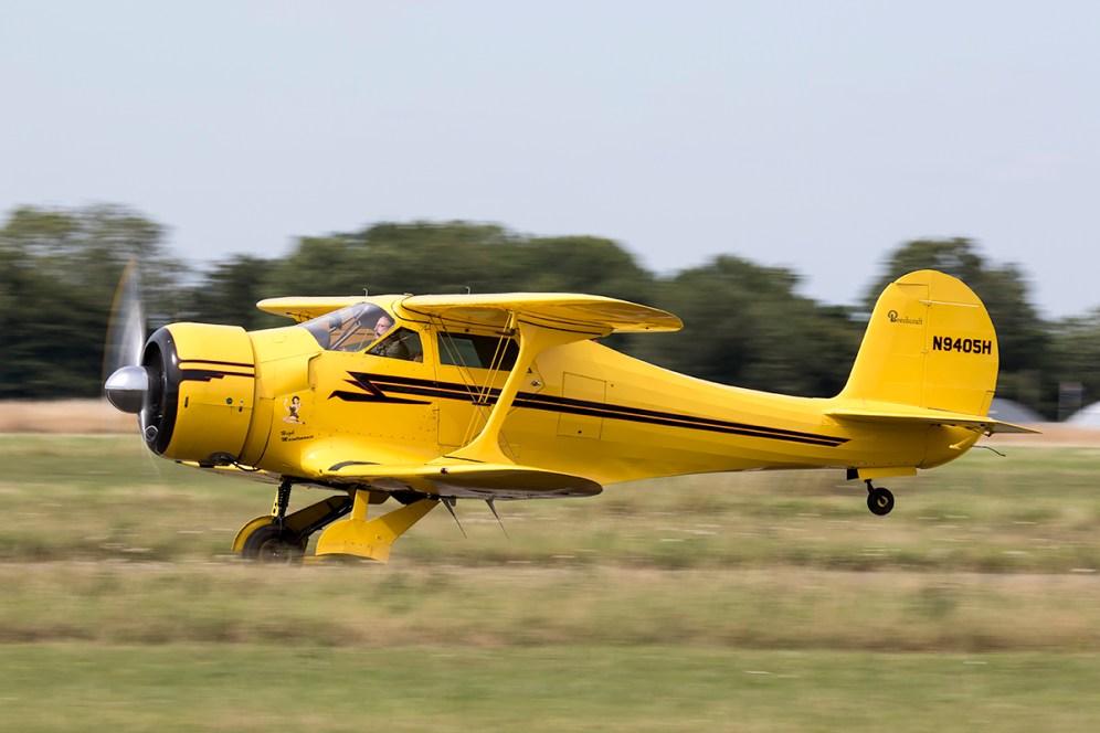 © Adam Duffield • Beechcraft D17S Staggerwing N9405H • Old Buckenham Airshow 2015