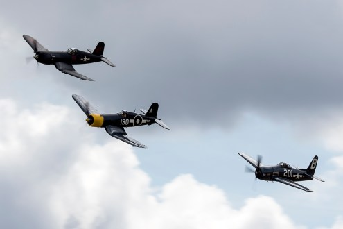 © Adam Duffield • Naval Aircraft formation • Flying Legends 2015