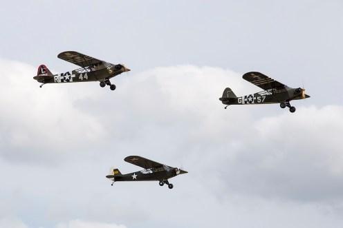 © Adam Duffield • Piper Cub Formation • Flying Legends 2015