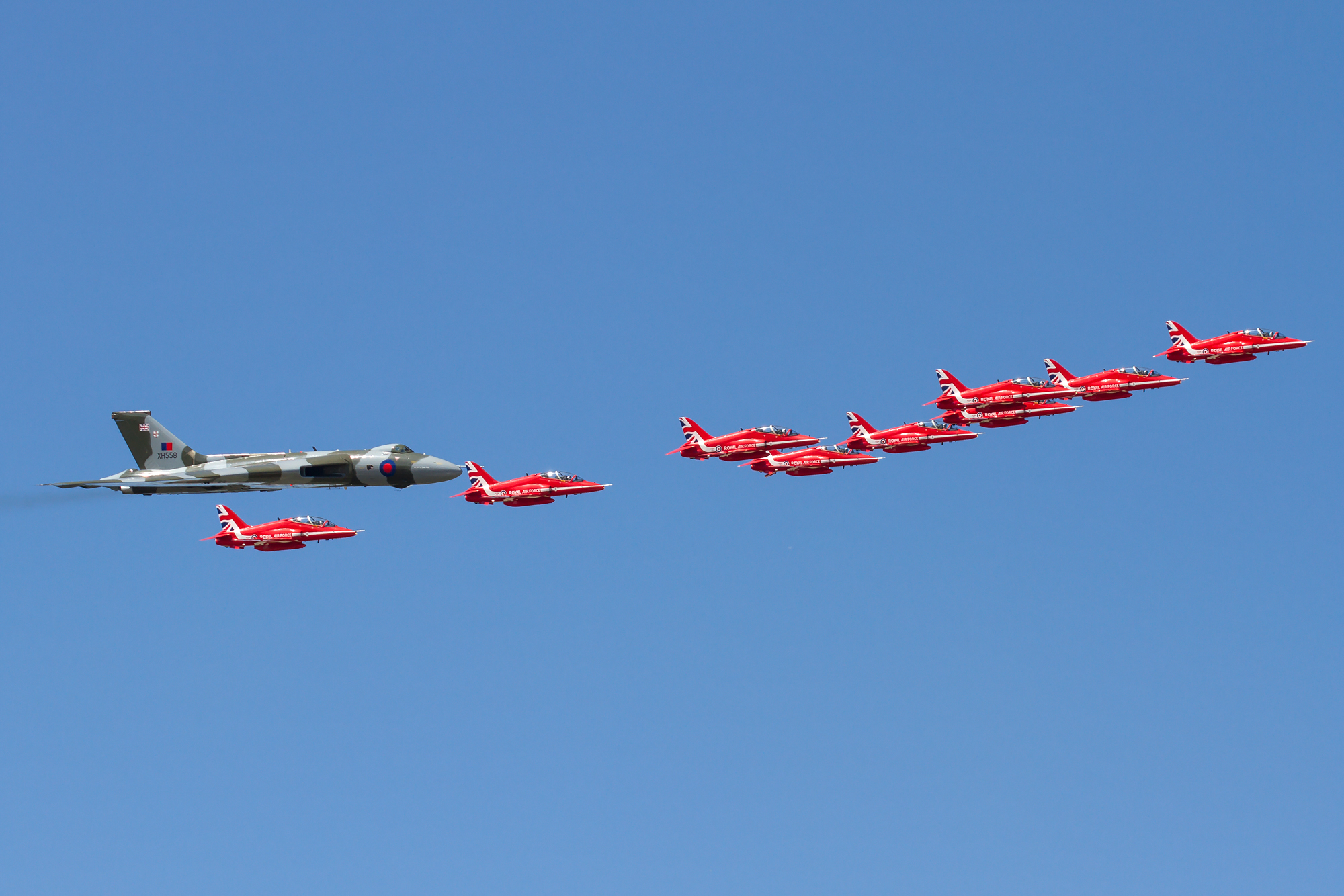 Vulcan & Red Arrows Formation