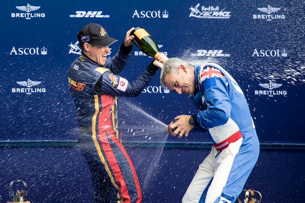 © Adam Duffield • Champagne Flowing • Red Bull Air Race - Ascot