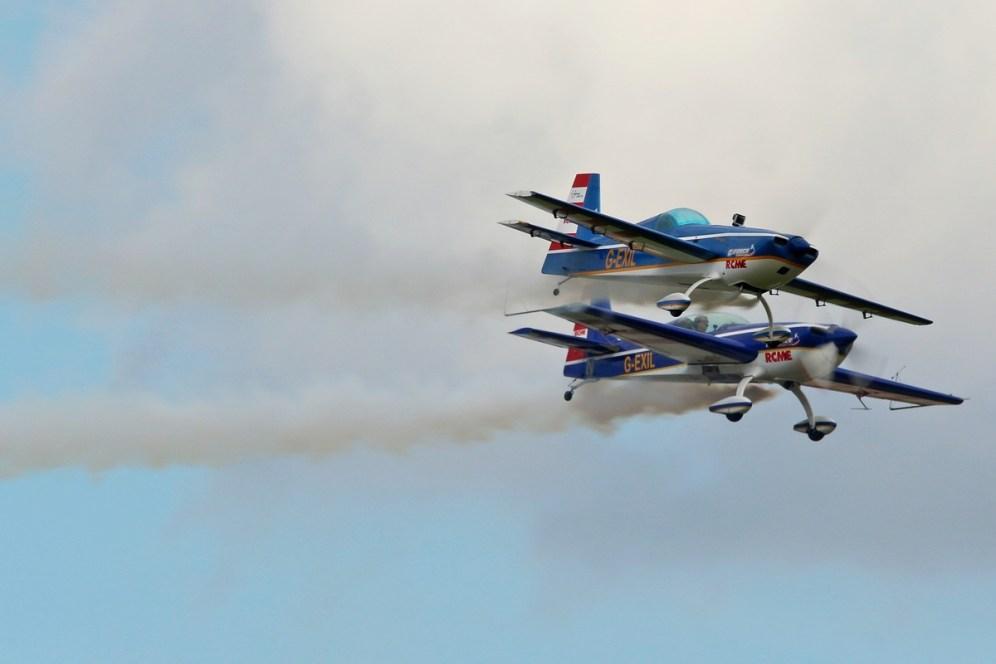 © Jamie Ewan • G-Force Aerobatics Extra 300s G-EXIL & Scale Model • East Kirkby Airshow