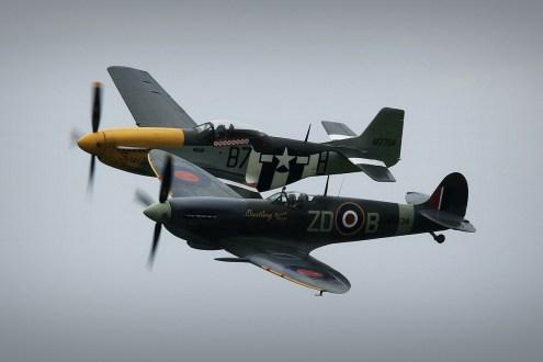 © Jamie Ewan • OFMC Spitfire & Mustang Pair • Dunsfold Wings & Wheels 2015