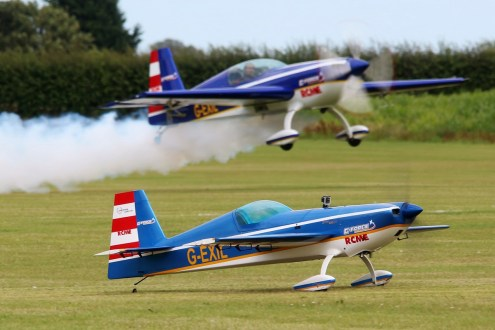 © Jamie Ewan • G-Force Aerobatics Extra 300s G-EXIL & Scale Model • East Kirkby Airshow