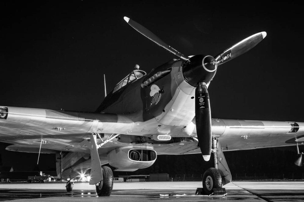 © Harry Measures • Hawker Hurricane • RAF Coningsby Nightshoot