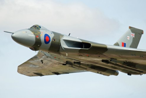 © Michael Wise - Vulcan XH558 during its award winning display on Saturday of RIAT 2015 - Vulcan XH558 Image Wall