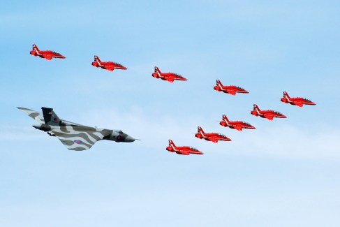 © Michael Wise - In formation with the Red Arrows at RIAT 2015 - Vulcan XH558 Image Wall