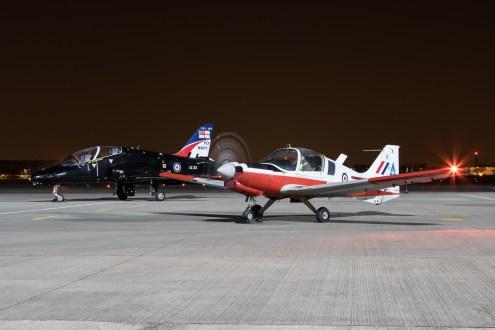 © Adam Duffield - Scottish Aviation Bulldog T.1 G-BZXZ / XX629 - Northolt Nightshoot XX