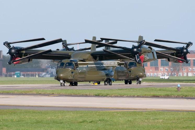 © Duncan Monk - Bell-Boeing MV-22B Ospreys – HMX-1 Presidential Helicopters at RAF Mildenhall