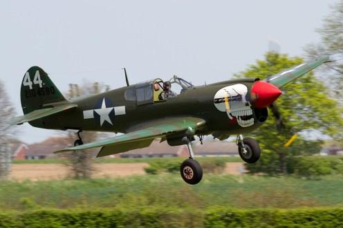 © Michael Lovering - Curtiss P-40 Kittyhawk - Shuttleworth Season Premiere Airshow 2016