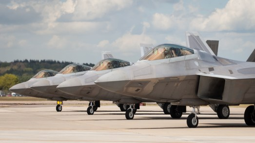 © Harry Measures - Raptors prepare for another sortie - F-22 Raptor Deployment to RAF Lakenheath