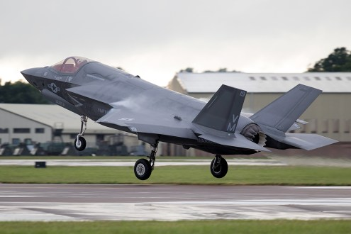 © Michael Lovering - USMC F-35B 168727 - First F-35 Lightning IIs arrive in United Kingdom