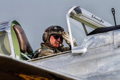 © Craig Sluman - P-40F Warhawk 160/10AB/ N80FR - Duxford American Air Show 2016