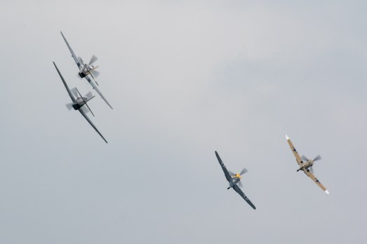 © Adam Duffield - Mustang and Buchon tail chase - Duxford American Air Show 2016