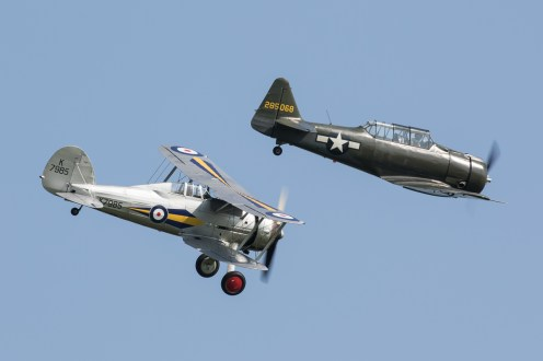 © Adam Duffield - North American AT-6D Texan 285068/G-KAMY & Gloster Gladiator I K7985/G-AMRK - Shuttleworth Fly Navy Air Show 2016