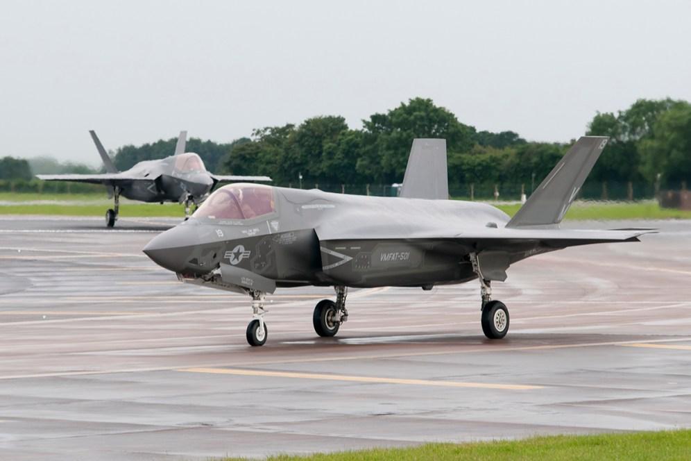 © Duncan Monk - USMC F-35B 168727 - First F-35 Lightning IIs arrive in United Kingdom