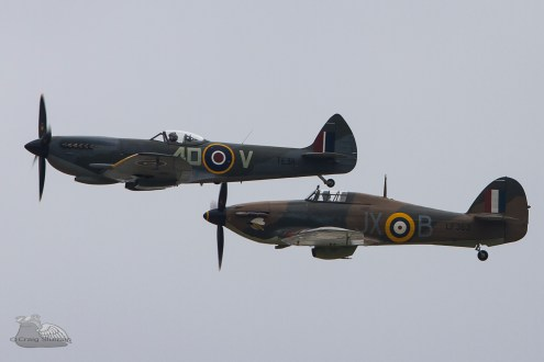 © Craig Sluman - BBMF Fighter Pair - Duxford American Air Show 2016
