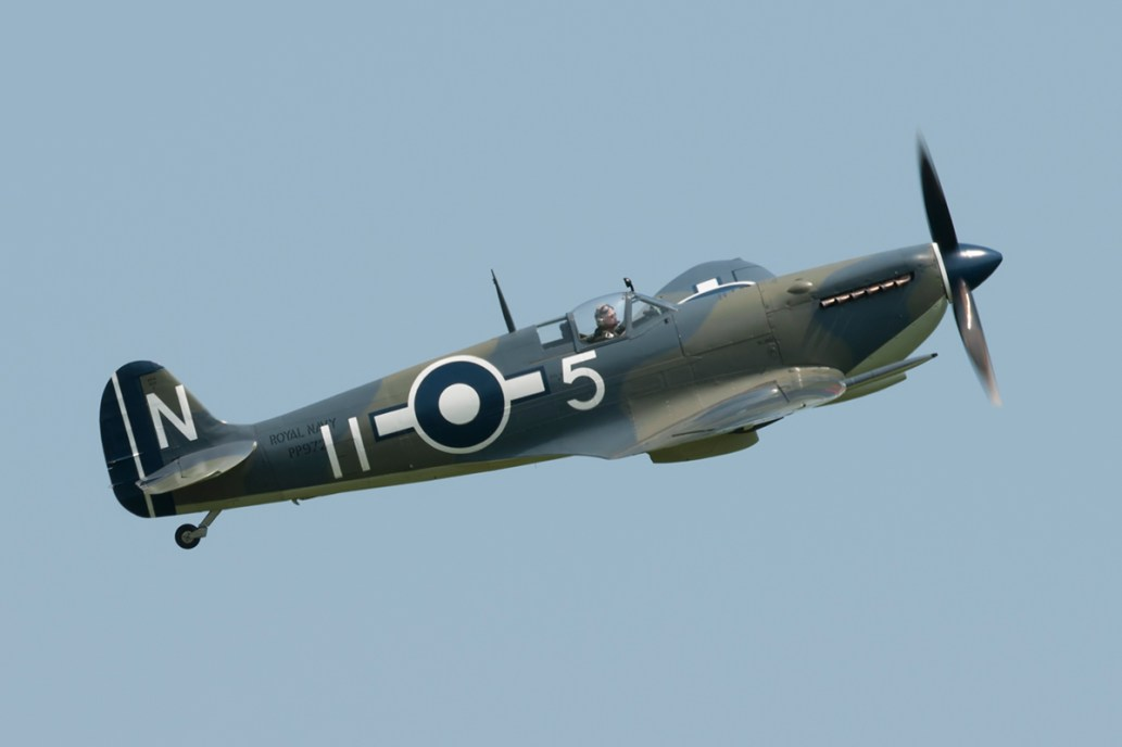 © Duncan Monk - Supermarine Spitfire Mk III PP972/G-BUAR - Shuttleworth Fly Navy Air Show 2016 - Shuttleworth Fly Navy Air Show 2016