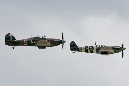 © Duncan Monk - Hurricane Mk IIc PZ865 and Spitfire Mk Vb AB910 - RNAS Yeovilton Air Day 2016