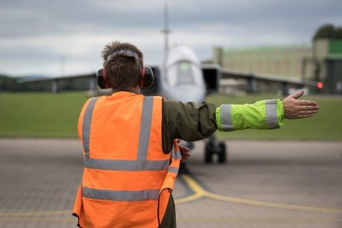 © Adam Duffield - Ground handler carryout out checks - RAF Cosford Jaguars final prowl