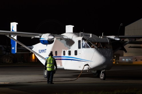 © Adam Duffield - Short Skyvan C-GKOA - RAF Brize Norton Nightshoot