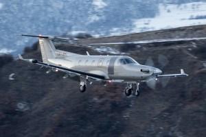 © Adam Duffield - Pilatus PC-12 LF-JFK arrives at Sion Airport - World Economic Forum Air Policing
