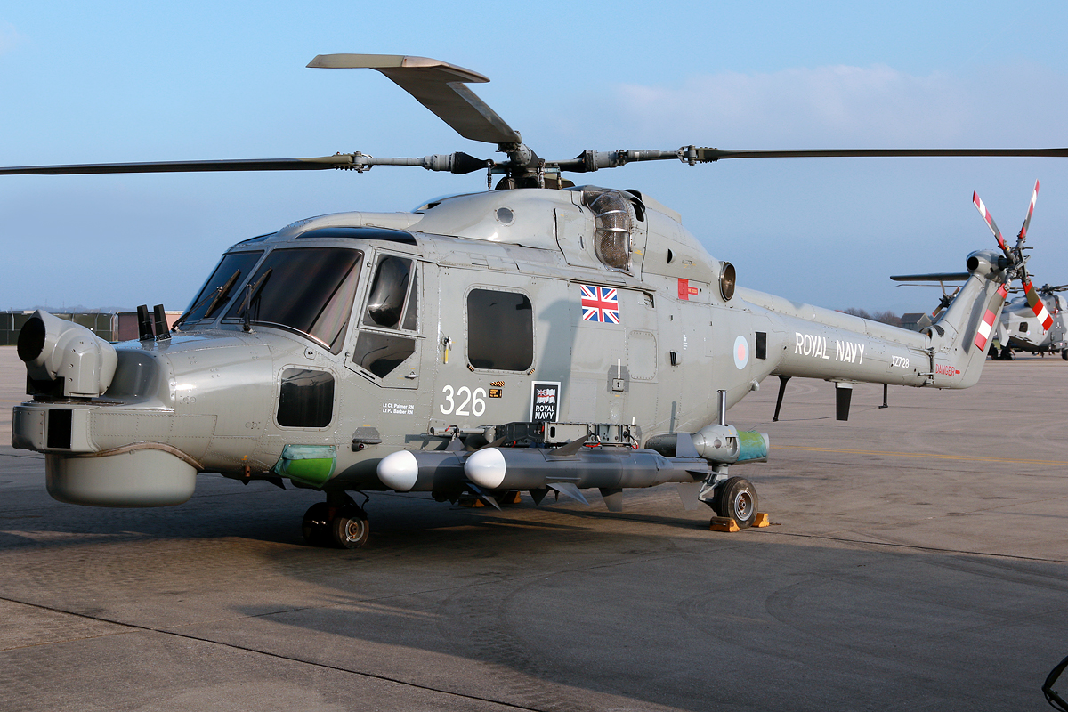 © Mark Kwiatkowski - A pair of Sea Skua anti-ship missiles fitted to the Lynx - Royal Navy Lynx Retirement