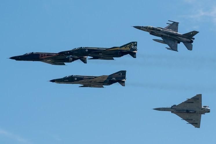 ©Duncan Monk - Hellenic Air Force RF-4E Retirement Flypast Formation - Larissa AB