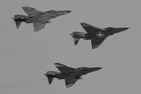 ©Duncan Monk - Hellenic Air Force RF-4E formation - Larissa AB