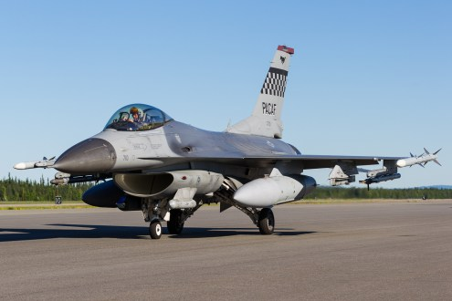 © Mark McGrath - F-16CM-40-CF (90-0710) from the 36th FS Osan AFB taxiing out during Red Flag Alaska 17-2 - Red Flag Alaska 17-2