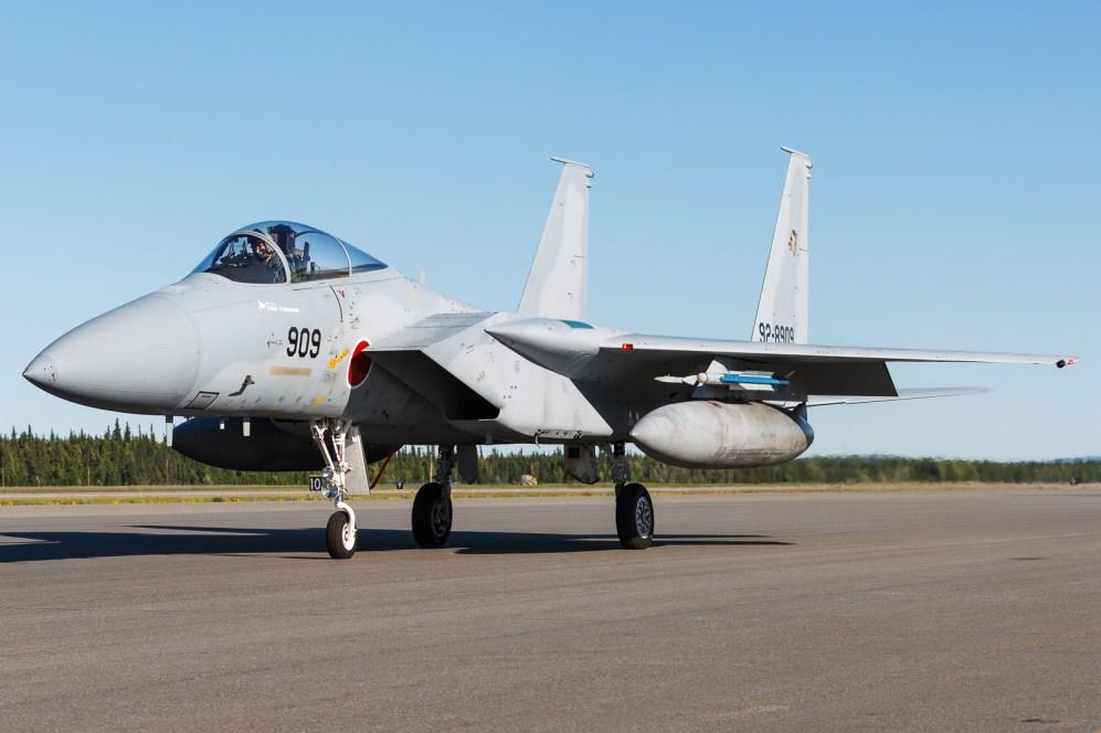 © Mark McGrath - An F-15J (92-8909) from 201 Hikotai, JASDF taxies out during Red Flag Alaska 17-2 - Red Flag Alaska 17-2