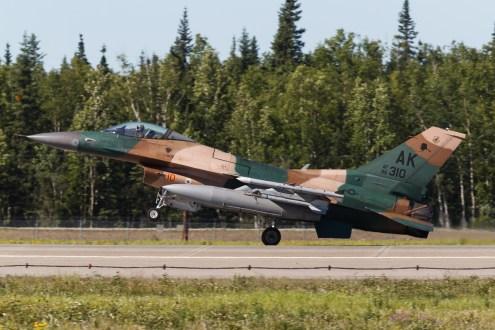 © Mark McGrath - F-16C-30-CF (86-0310) of the 18th Aggressor Squadron landing at Eielson AFB during Red Flag Alaska 17-2 - Red Flag Alaska 17-2