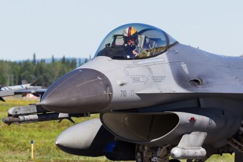 © Mark McGrath - Close up of F-16CM-40-CF (90-0710) of the 36th FS Osan AFB during Red Flag Alaska 17-2 - Red Flag Alaska 17-2