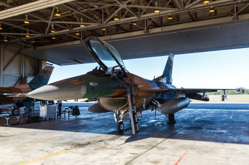 © Mark McGrath - F-16C-30-CF (86-0310) of the 18th Aggressor Squadron prior to a Red Flag Alaska 17-2 sortie - Red Flag Alaska 17-2