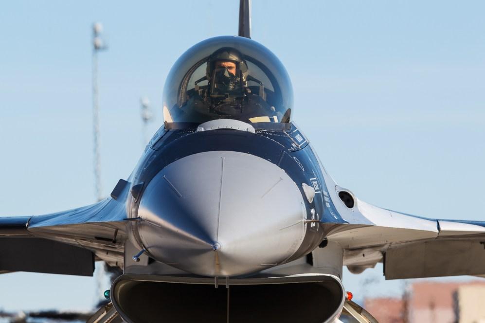 © Mark McGrath - Close up of F-16C-30-CF (86-0330) of the18th Aggressor Squadron during Red Flag Alaska 17-2 - Red Flag Alaska 17-2