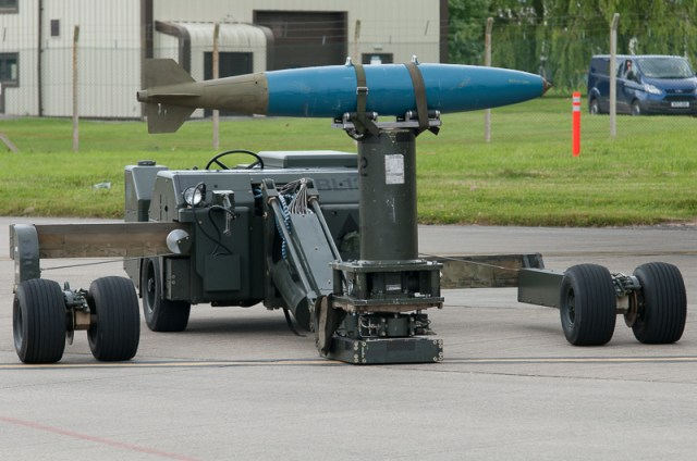 © Duncan Monk - Bomb Loading Equipment - USAF Bomber Deployment RAF Fairford