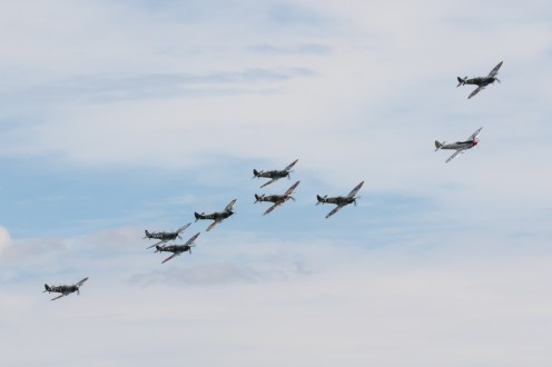 © Adam Duffield - The Spitfire Orchestra making their first pass - Flying Legends 2017