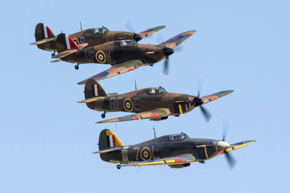 © Adam Duffield - A quartet of Hurricanes as part of the Battle of Britain segment - Flying Legends 2017