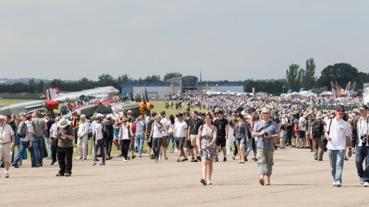© Adam Duffield - A busy flightline walk on the Sunday - Flying Legends 2017