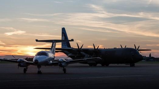 © Adam Duffield - Embraer EMB 121 Xingu 105/YU and RAF C-130J Hercules ZH866 - Northolt Evening Photoshoot XXIIa