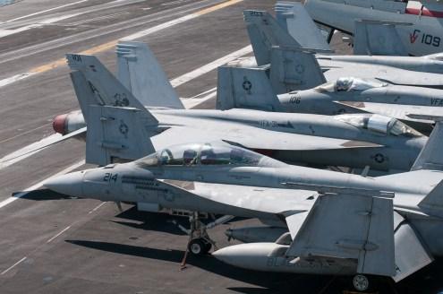 © Duncan Monk - Boeing F/A-18E Super Hornets - USS George H W Bush CVN 77