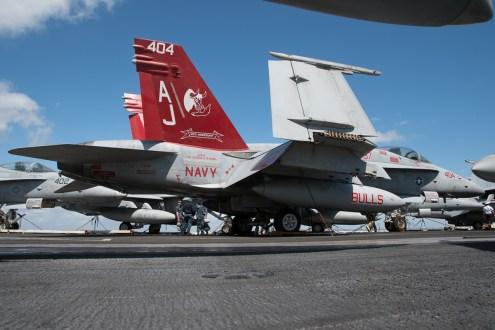 © Duncan Monk - F/A-18C 165221/AJ 404 Ragin Bulls 50th Anniversary - USS George H W Bush CVN 77