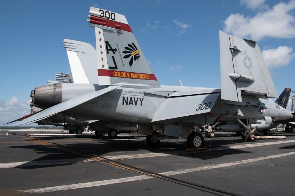 © Duncan Monk - Boeing F/A-18E Super Hornet 168910/AJ 300 - USS George H W Bush CVN 77