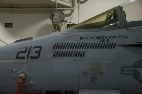 © Duncan Monk - F/A-18F 166639AJ 213 Rear Admiral Whitesell - USS George H W Bush CVN 77