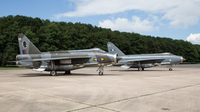 © Adam Duffield - English Electric Lightning F6 XS904 and English Electric Lightning F6 XR728 - Lightning XR713 56 Sqn scheme unveiling